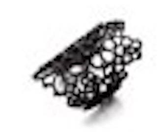 """ring way """"lace"""" black, 18 mm"""
