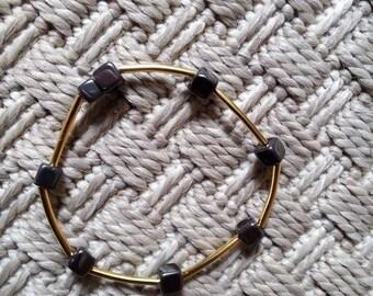 Black boho chic bracelet