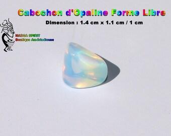 Cabochon Opal Opalescente of irregular shape of 1.4 cm x 1.1 cm / 1 cm - item #5