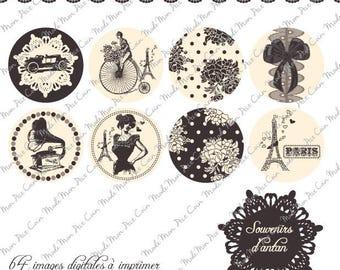 "Digital images for cabochons ""Memories of ANATAN"" (50 images)"
