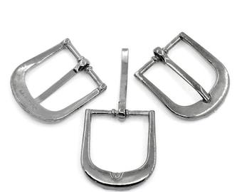2 Matt 19x20mm belt buckles: sea 0177