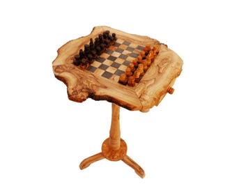 Table 55 cm olive wood chess set