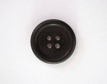 Set of 10 001893 18mm dark wooden button