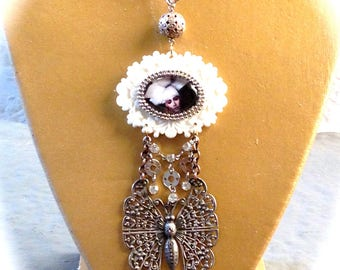 Necklace creator vintage art nouveau woman dreams