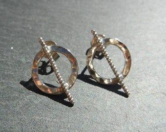 Earrings in 925 Sterling geometric pattern.