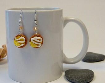 Lemon pie earrings