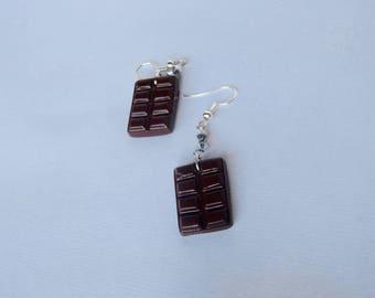 Dark chocolate earrings