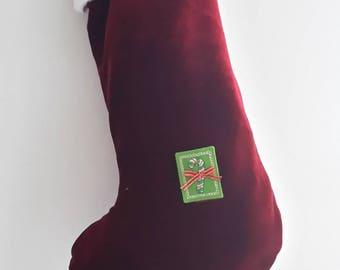 """""""Sugar"""" boot Christmas red and White/Christmas/Christmas Decor kids decor"""