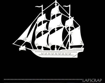 1 cut scrapbooking scrap boat sailboat sea vacation scrapbooking embellishment die cut scrap album deco