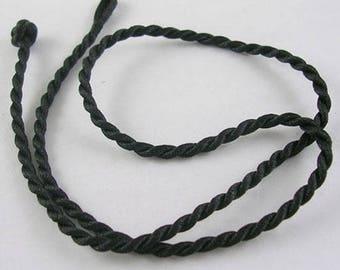 3 black silk cord mms thick 43 cms long