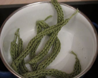 Dinette crocheted cotton green bean to play the market