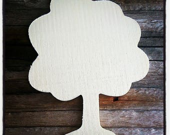 raw blank wooden tree / painting