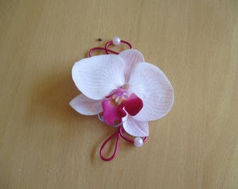 Brooch boutonniere wedding-pink and fuchsia