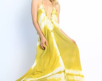 Go with the Flow Dress- Fiona Bliss Handmade Clothing- Yellow