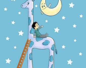 Coupon Minky T20- La Girafe et l'Enfant