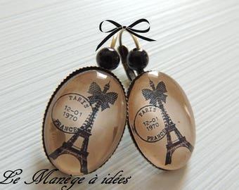 """Earrings""""chic from the great lady"""" METAL BRONZE"""