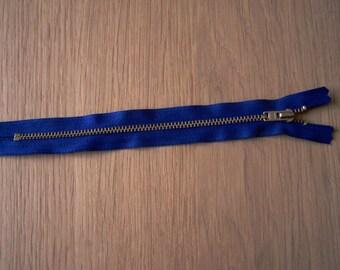 Set of 2 blue 18 cm zipper closures