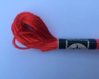 Embroidery FLOSS mouline satin-red color S321