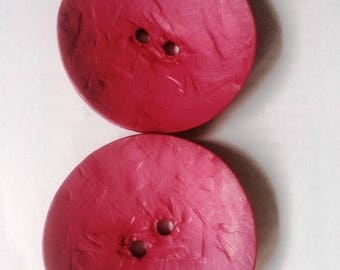 large DILL 60MM color Mulberry pink plastic buttons