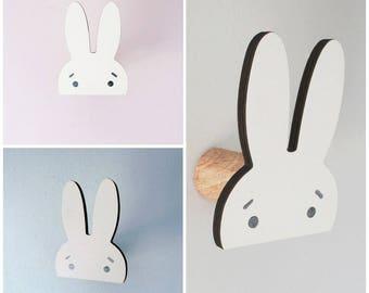 Miffy rabbit wall hook, hanger, door coat for children