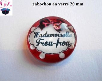 1 cabochon clear 20mm frou frou theme