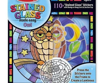 make your stained glass owls