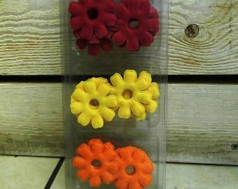 Assorted 16 flowers felt 50mm