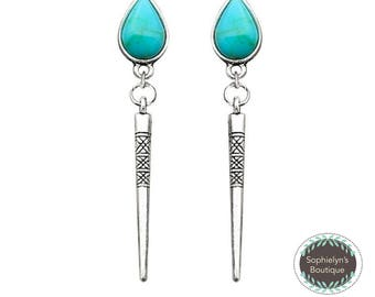 Turquoise Stylish Drop Earrings