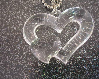 45 mm acrylic transparent hanging hearts