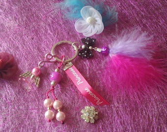 Keychain in pink and Princess