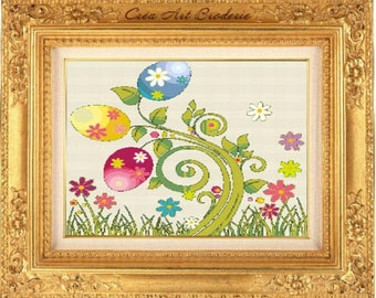 Easter counted cross stitch