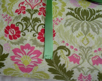 Ribbon green satin 10 mm in height