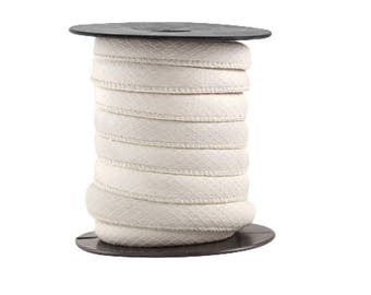 X 125 cm leather cord, round 9 mm x 10 mm, color white scales fine