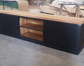 Bottom 2 industrial style furniture doors sliding solid oak top