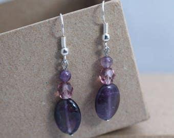 Semi-precious beads earrings