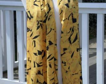Shawl large scarf woman scarf black and yellow nice