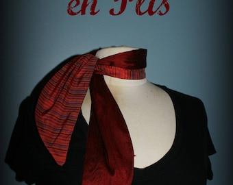 Les Petites Lyons - Carmine stripes retro scarf