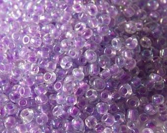 Bag of seed beads 2.5 mm purple