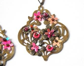 Shaman wedding - flower earrings