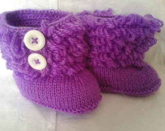 Purple boots for girls size 6 to 9 months