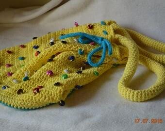 Hand crocheted bag