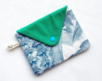 Versatile cotton snap closure flap pouch
