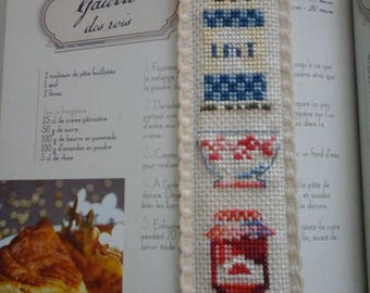 cross-stitched bookmark