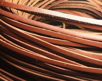 5 Metters - cord strap genuine leather Brown 5 x 2mm 4558550021793