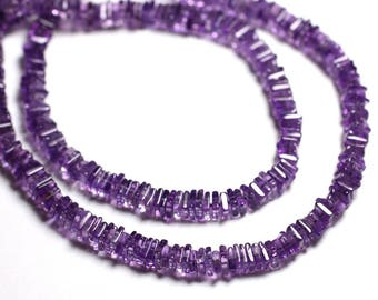 Stone - Amethyst square rondelles 4-5mm - 4558550087713 Heishi beads 10pc-