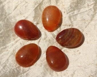 1pc - stone pendant - Teardrop 25x18mm 4558550020789 fire Agate