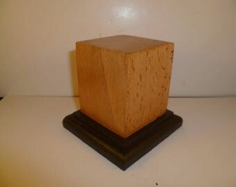 Made with beech and oak scch2 for figurines square wood base