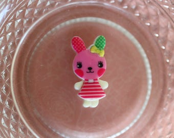 Pink resin rabbit scrapbooking