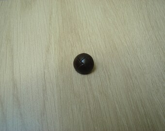 tail brown leather button