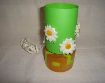 Wild Daisy and green lamp